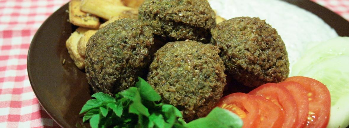 Shams Falafel tarjoilu